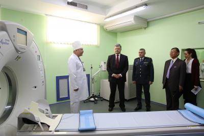 Президент України долучився до відкриття діагностичного комплексу в клінічному госпіталі Держприкондонслужби