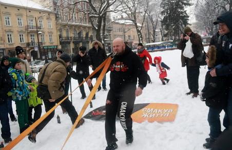 Знаменитий Тягнизуб установив у Львові особливий зимовий рекорд (ФОТО)