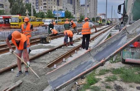 У Львові роботи з прокладання трамвайної колії до Санта-Барбари відклали до погодних покращень