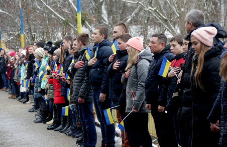 У День соборності України молодь Львова організувала символічний ланцюг (ФОТО)