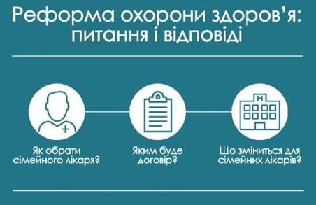 Реформа охорони здоров'я на Львівщині: як обрати лікаря, коли почнеться приписна кампанія, як змінити лікаря та що буде по селах?