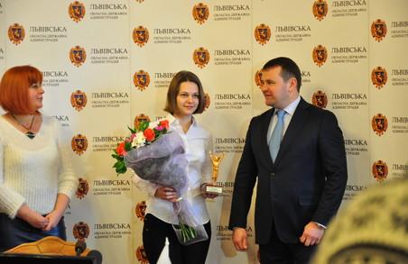 Львівська шахістка світового рівня Анна Музичук отримала нагороду (ФОТО)