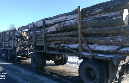 На Львівщині затримали нелегальну деревину