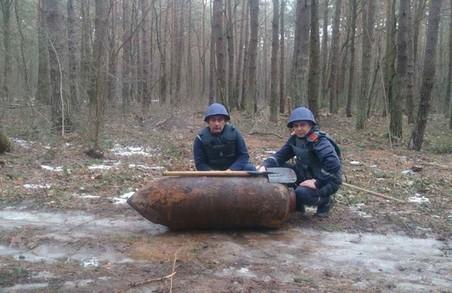 На Львівщині рятувальники знешкодили фугасну авіаційну бомбу часів ІІ Світової війни (ВІДЕО)