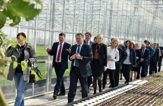 Посол Нідерландів оцінив нові теплиці на Львівщині (ФОТО)