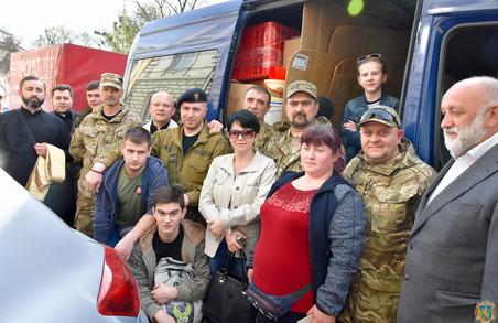 Гостинці з Львівщини відправили на передову