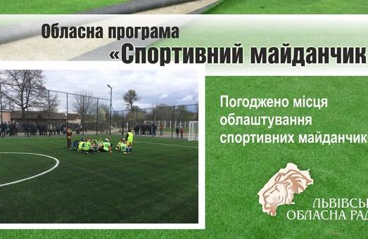На Львівщині визначили, де облаштують спортивні майданчики