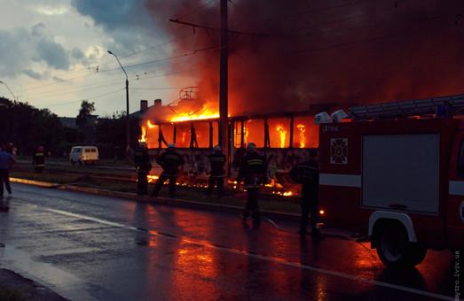 Як у Львові горів трамвай (ВІДЕО)