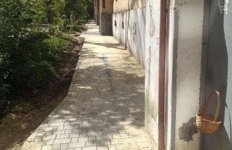 На Городоцькій відремонтували тротуар