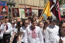 На  вулиці  міста  вийшли  тисячі  львів'ян: Хода  в честь  Дня  Героїв  (ФОТО)
