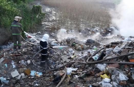 Як біля Львова горіло сміттєзвалище