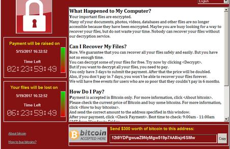 Невідомий комп'ютерний вірус-вимагач, схожий на WannaCry атакував українські банки
