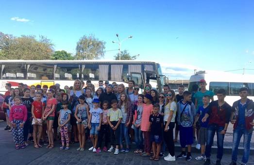 На Львівщину приїхали діти з Луганщини