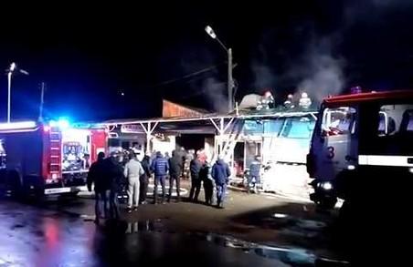 """Пожежа на """"Галицькому перехресті"""" - що відомо / Відео"""
