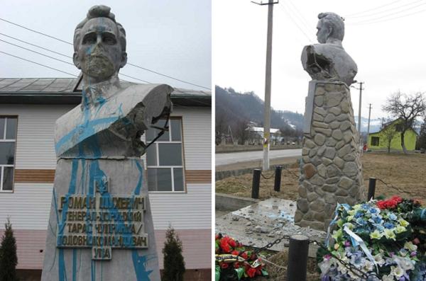 5e07abd1e4d437 У 2013 році пам`ятник Лицареві Духу пошкодили і облили фарбою. За словами  журналіста Руслана Коцаби, це був