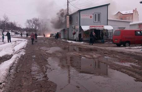 """На ринку """"Галицьке перехрестя"""" - пожежа"""