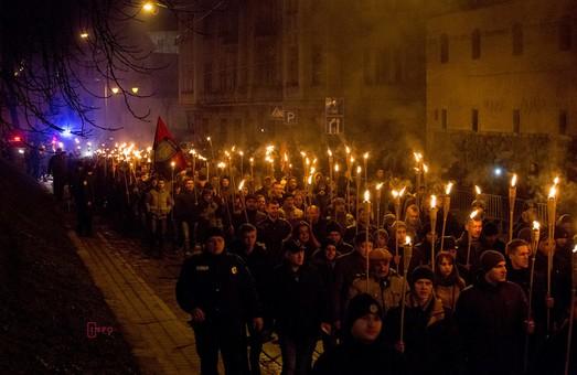 У Львові пройшла масштабна смолоскипна хода, присвячена Бандері