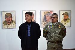 Кіборг Андрій Шараскін «Богема» та художник Сергій Пущенко