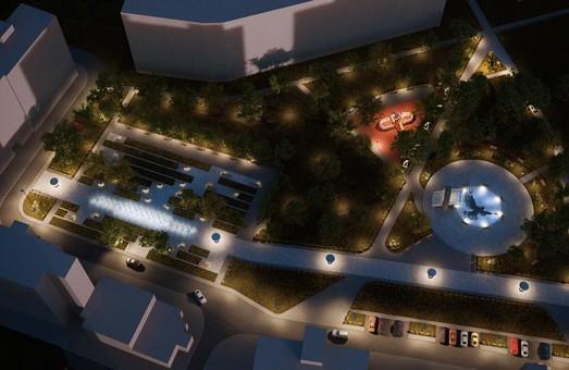 Як виглядатиме сквер імені Андрія Кузьменка на Львівщині: фото