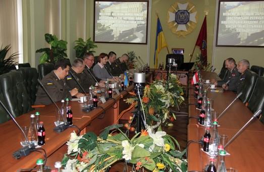 Національну академію сухопутних військ із робочим візитом відвідала австрійська військова делегація