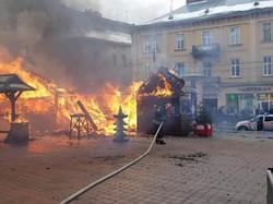 У Львові горів Різдвяний ярмарок, є постраждалі