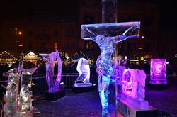 Конкурс крижаних скульптур відбувся біля головної ялинки Львова