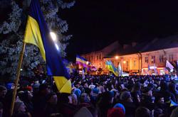 На мітинг звезли людей з усієї Львівщини