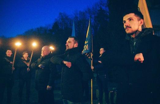 Національний корпус Львівщина провів акцію пам'яті Романа Шухевича.