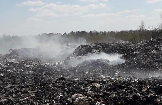 На Львівщині палає хімічнонебезпечне сміттєзвалище