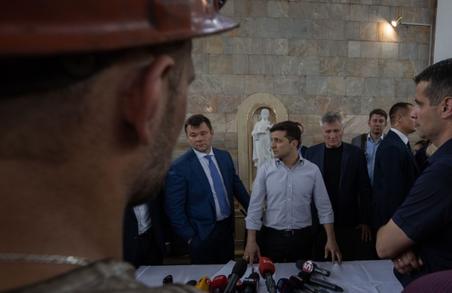 Зеленський пообіцяв сім'ям шахтарів квартири та скликав РНБО через трагедію на Львівщині