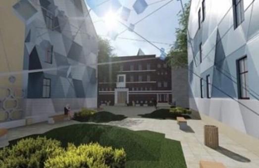 У Львові реконструюють сквер біля палацу Залізничників
