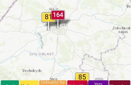 У Львові якість повітря близька до критичної