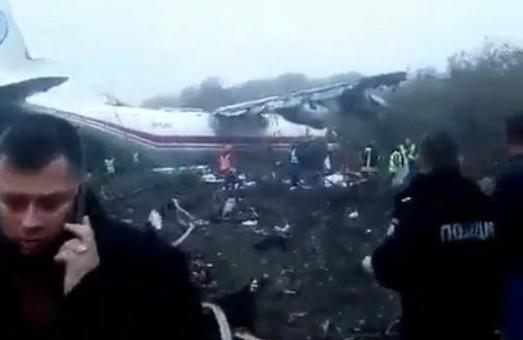 З`явилося перше відео з місця львівської авіакатастрофи