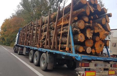 У Львові затримали вантажівку з незаконно зрубаною деревиною
