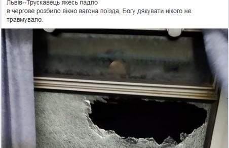 Біля Львова затримали чоловіка, який закидав камінням потяг та травмував пасажира