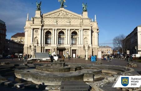 Старий фонтан з-під Оперного перенесуть в Стрийський парк