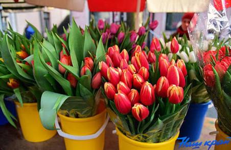 На Львівщині жінку оштрафували за торгівлю квітами під час карантину