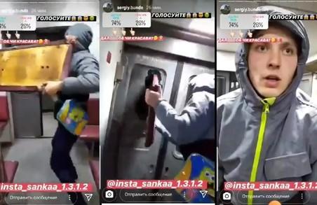 Суд оштрафував хулігана, який трощив потяг Львів-Сокаль