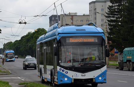 У Луцьку обткатують нові тролейбуси для Маріуполя