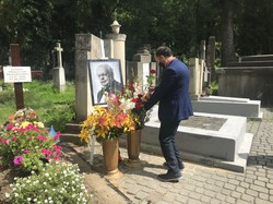 У Львові на Личаківському цвинтарі вшанували пам'ять композитора Мирослава Скорика