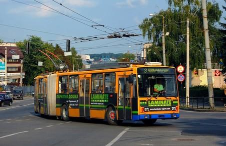 У Тернополі тролейбуси маршруту № 3 тимчасово курсують за зміненою трасою
