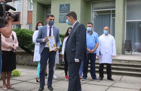 Кам'янко-Бузька центральна районна лікарня на Львівщині отримала нові апарати ШВЛ