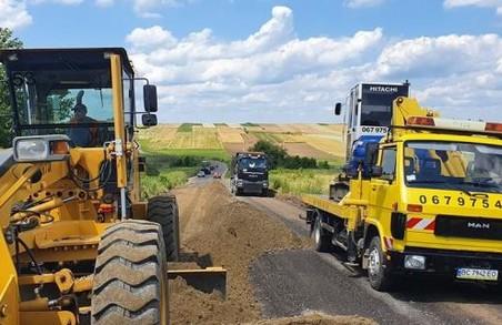 У Яворівському районі на Львівщині ремонтують дорогу Віжомля – Прилбичі