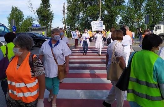 Медики на Львівщині блокують автотрасу Київ – Чоп