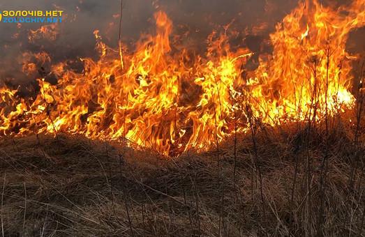 На Львівщині у вівторок вогнеборці ліквідували чотири пожежі сухої трави