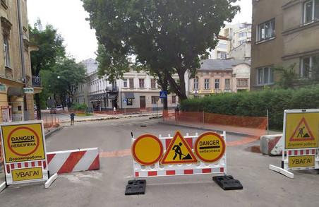 У Львові ремонт ділянки вулиці Шевченка до вулиці Ярослава Мудрого планують завершити до кінця осені