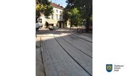У центрі Львова замінили біля 70 метрів трамвайної колії