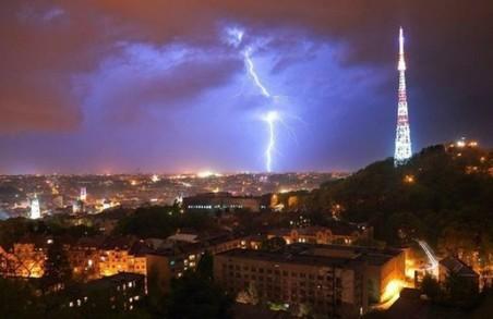 Сьогодні ввечері і завтра вдень у Львові прогнозують грозу та шквали