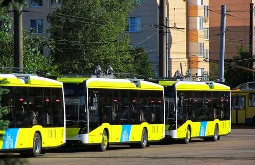 У тролейбусне депо Львова доставили іще одну партію нових тролейбусів