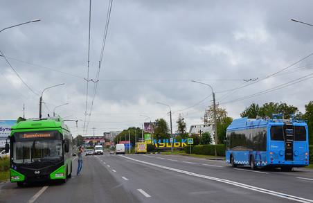 У Луцьку обкатують нові тролейбуси для Житомира та Дніпра